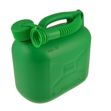 Green Plastic 5 Litre Fuel Can