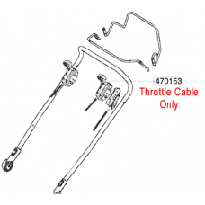 AL-KO Replacement Throttle Cable (AK470153)