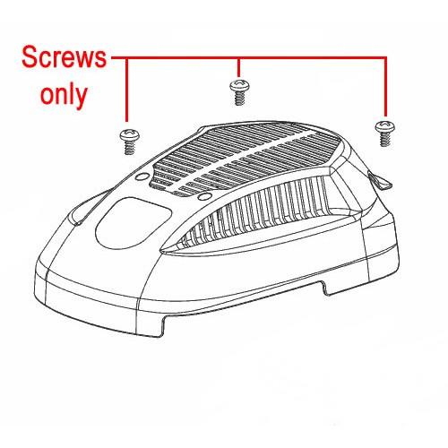 al 160qss engine cover screws x3 704831